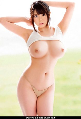 Handsome Asian Babe with Handsome Defenseless Real Soft Tots (Hd 18+ Photo)