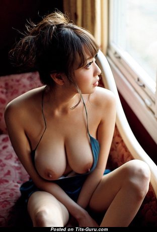 Exquisite Topless Asian Babe with Exquisite Defenseless Dd Size Busts (18+ Photoshoot)