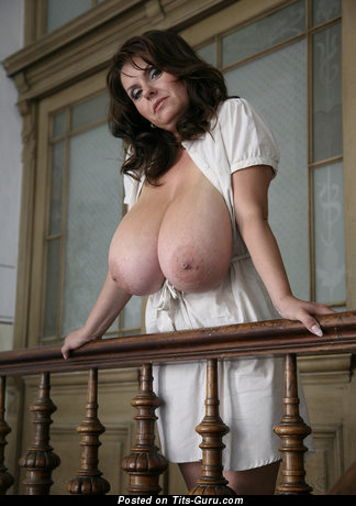 Milena Velba - Pretty Czech Brunette Babe with Pretty Bald Real Colossal Tits & Pointy Nipples (Hd Porn Picture)