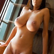Beautiful female with huge natural tittys image