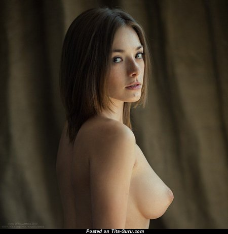 Image. Olga Kobzar - nude brunette with medium natural tits pic