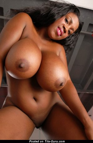Image. Sexy topless ebony with big tittys and big nipples picture
