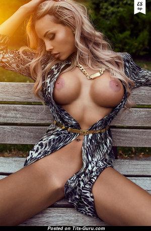 Elina Svetlova - Nice Ukrainian Playboy Blonde Babe & Girlfriend with Lovely Bald Round Fake Very Big Boobs & Sexy Legs (Hd Xxx Photo)