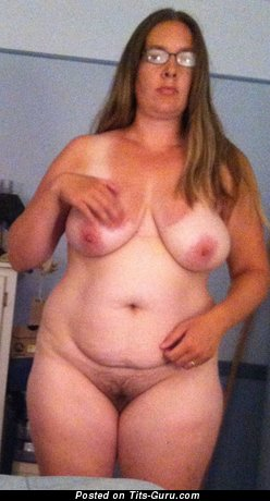 Image. Julia - topless amateur blonde with huge boobs photo