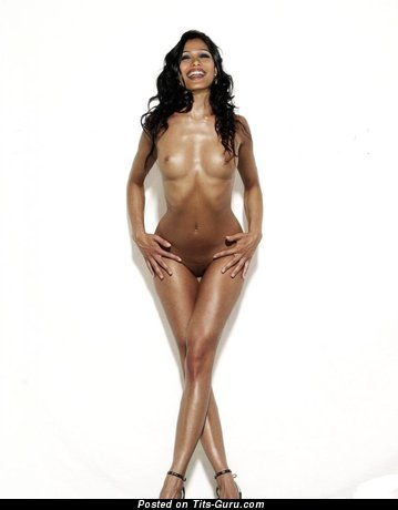 Freida Pinto - The Best Indian Brunette Actress with The Best Bald Small-Scale Titty (Sexual Photoshoot)