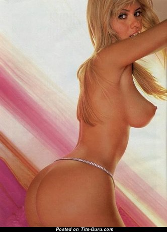 Ellen Roche - Amazing Blonde Babe with Amazing Nude Medium Sized Tittys in Panties (18+ Image)