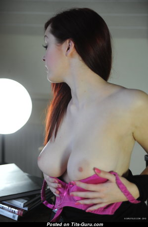 Jaye - Graceful Topless & Glamour Red Hair Pornstar with Graceful Nude Real Knockers & Huge Nipples is Undressing (4k Porn Pix)