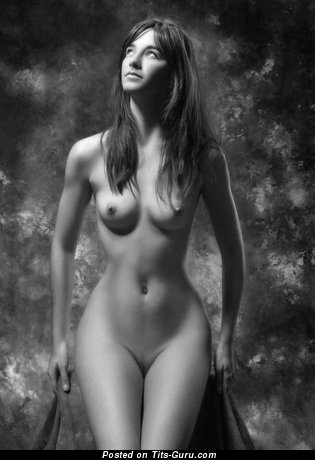 Image. Nude hot female with natural tits picture
