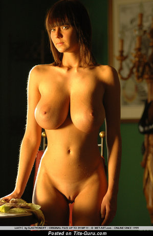 Image. Naked nice female with huge natural tittys vintage