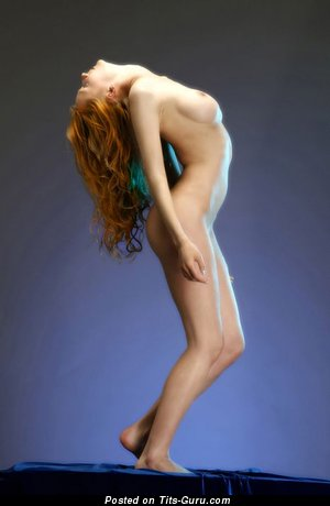 Adorable Red Hair with Adorable Open Natural Tight Boobie (Porn Photo)