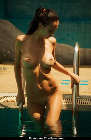 Image. Sexy topless brunette picture