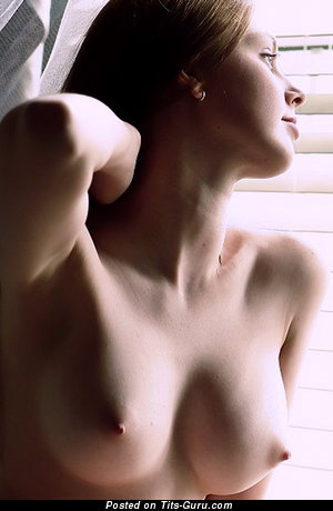 Image. Naked beautiful lady with medium natural boobies picture
