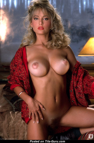 Suzi Simpson - Fine American Playboy Blonde with Awesome Defenseless Round Fake Titties (Vintage Porn Photoshoot)