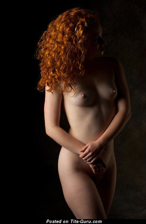 Wonderful Red Hair with Wonderful Bald Real Aa Size Titty (Porn Photo)