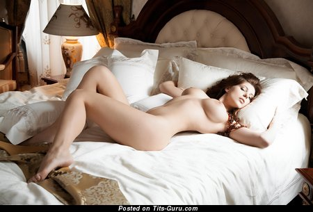 Image. Sexy brunette with big boob image