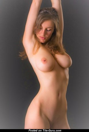 Sexy nude beautiful lady with natural boob image