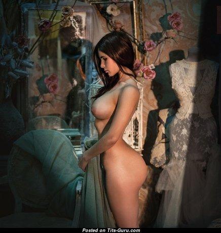 Hot Babe with Hot Naked C Size Busts (18+ Photoshoot)