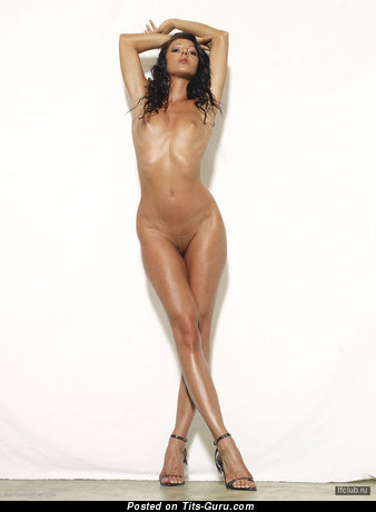Image. Nude brunette with natural tots image