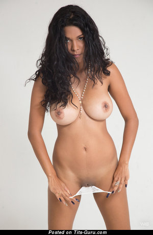 Image. Nude brunette with big natural boobies picture