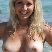 Sexy naked beautiful girl with medium natural breast image