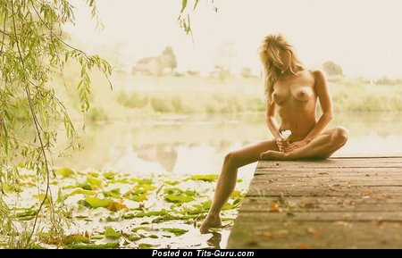Image. Nude blonde with medium tittes image