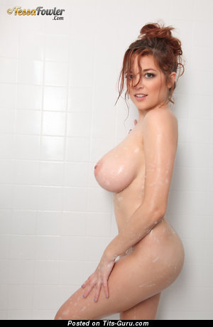 Tessa Fowler - Amazing Topless & Wet American Red Hair Pornstar with Amazing Nude Real Massive Boobies & Huge Nipples (Hd Xxx Wallpaper)