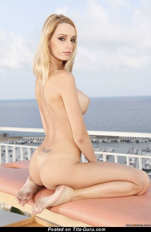 Erica Fontes - Stunning Portuguese Blonde Pornstar with Exquisite Naked Round Fake Boob (Hd Xxx Pic)