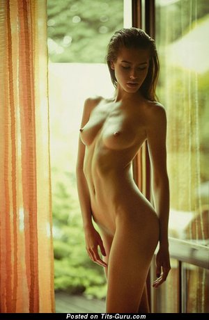 Image. Sexy topless amateur hot woman with small natural boobies photo