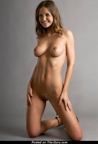 Image. Naked wonderful woman with medium natural tittes picture