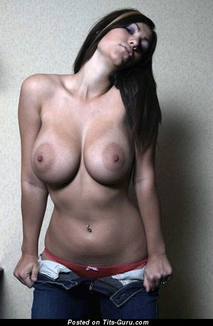 Sexy naked brunette with big boobs photo