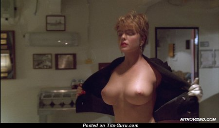 Erika Eleniak - Elegant Topless Estonian, German, Ukrainian Playboy Blonde Babe with Elegant Bald Normal Boobies & Red Nipples (Vintage Hd Sex Pic)