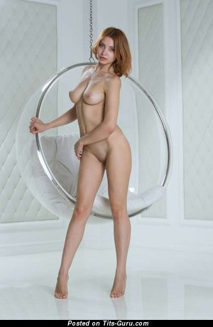 Graceful Red Hair with Graceful Open Natural C Size Titties (Porn Pix)
