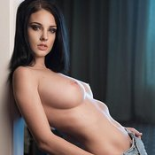 Alla Berger - Nice Russian Brunette with Nice Nude Natural Med Busts (Sex Photo)