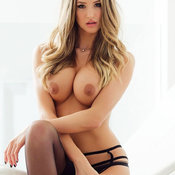 Danica Thrall - sexy nude blonde with medium boobs and big nipples image