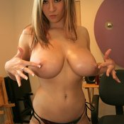 Amateur blonde with huge natural boob and piercing pic