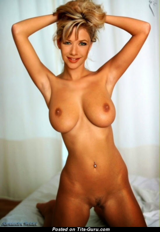 Alexandra Neldel - Lovely Topless German Blonde with Lovely Bald Natural Breasts (Xxx Photoshoot)