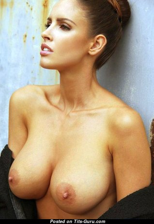 Perfect Babe with Perfect Bare Mid Size Tit (Porn Photoshoot)