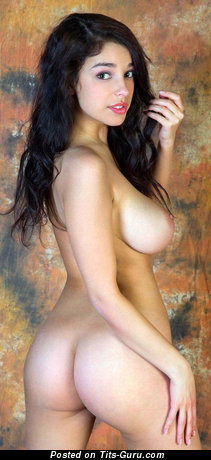 Evita Lima - sexy nude brunette with medium natural boobies picture
