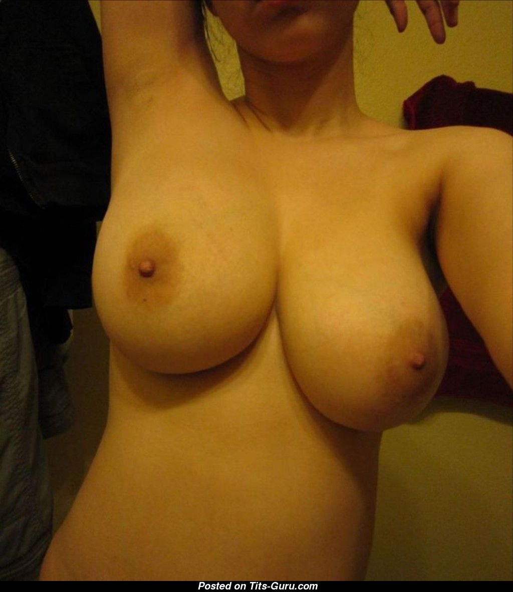 Tits selfie up close