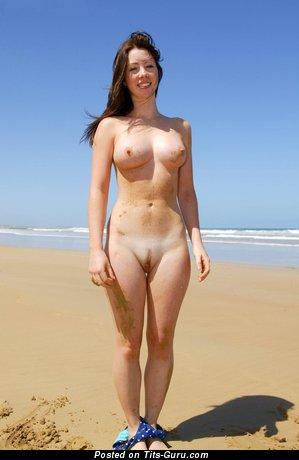 Carmen - Elegant Brunette with Elegant Naked Real Dd Size Titties (Hd Sexual Wallpaper)