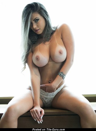 Sexy nude nice girl with medium breast photo