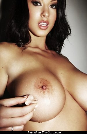 Naked brunette with big boobs image