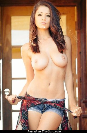 Ali Rose - Magnificent Topless American Brunette with Magnificent Open Real Med Tittes (Sex Pix)