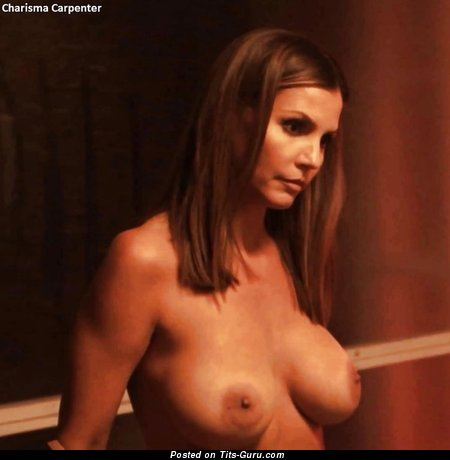 Image. Charisma Carpenter - nude wonderful female with fake tittes image