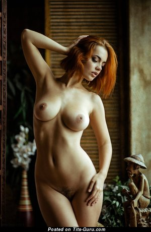 Image. Nude hot female with medium natural boobies pic