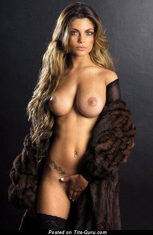 Superb Babe with Superb Defenseless Medium Sized Boobie (Porn Image)