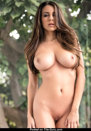 Image. Naked beautiful woman with big natural boob image