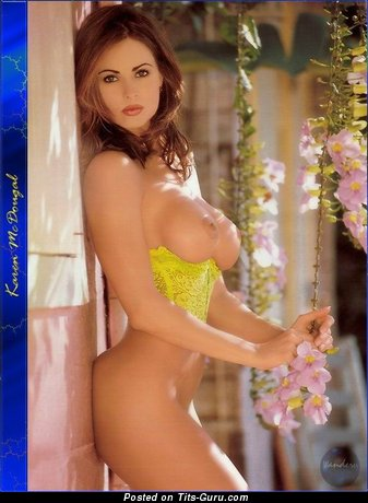 Image. Karen Mc Dougal - naked nice female with medium fake boob image