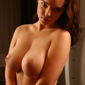 Brunette with big natural tittys and big nipples pic