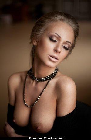 Image. Naked beautiful lady with medium natural tittes photo